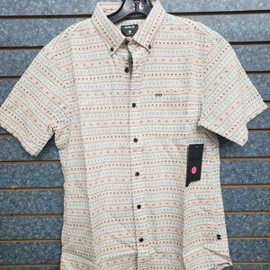 Hurley Short Sleeve White Button Front Shirt